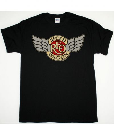 REO SPEEDWAGON TOUR 1981 NEW BLACK T SHIRT