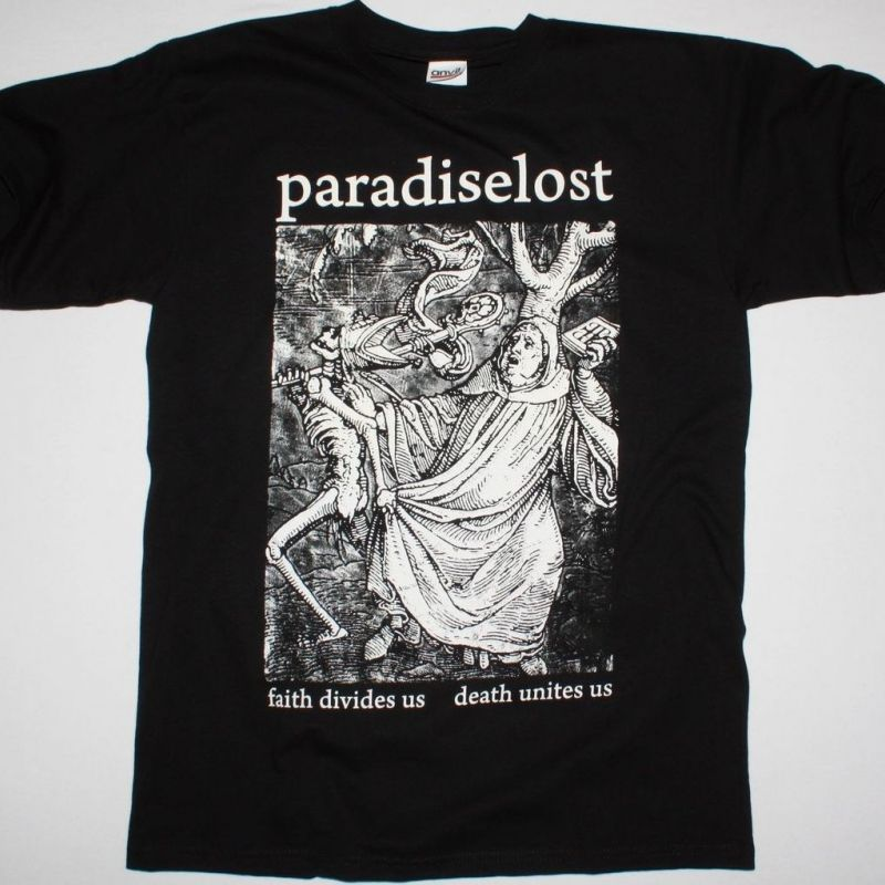 PARADISE LOST FAITH DIVADES US  NEW BLACK T-SHIRT