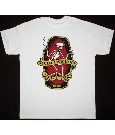 SOCIAL DISTORTION POR VIDA NEW WHITE T SHIRT