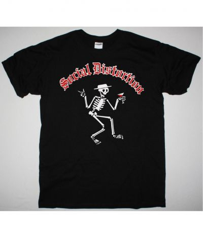 SOCIAL DISTORTION SKELLY LOGO NEW BLACK T SHIRT