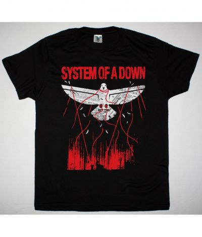 SYSTEM OF A DOWN OVERCOME NEW BLACK T SHIRT