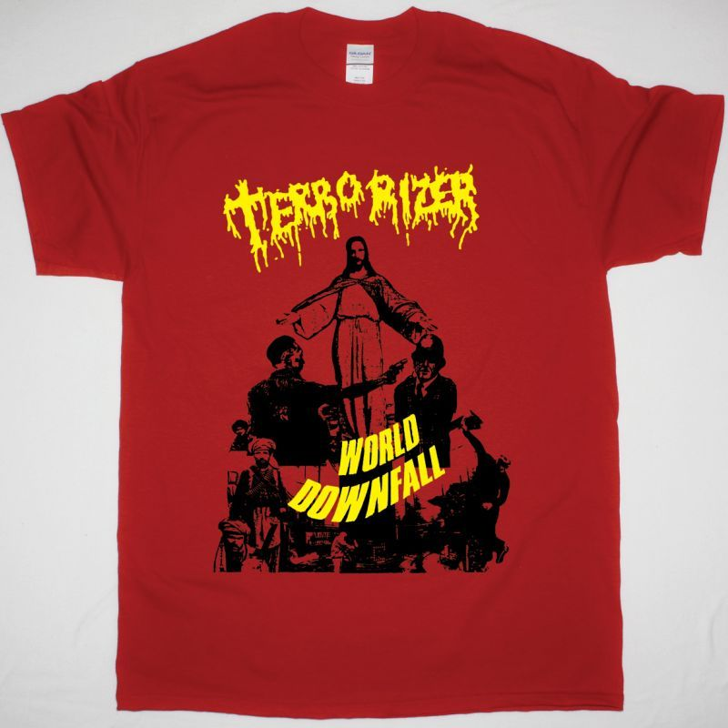 TERRORIZER WORLD DOWNFALL NEW RED T SHIRT