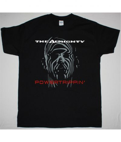 THE ALMIGHTY POWERTRIPPIN' NEW BLACK T SHIRT