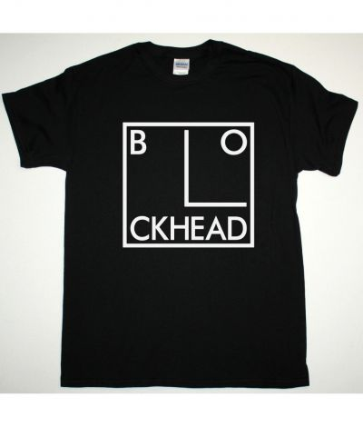 THE BLOCKHEADS LOGO NEW BLACK T SHIRT