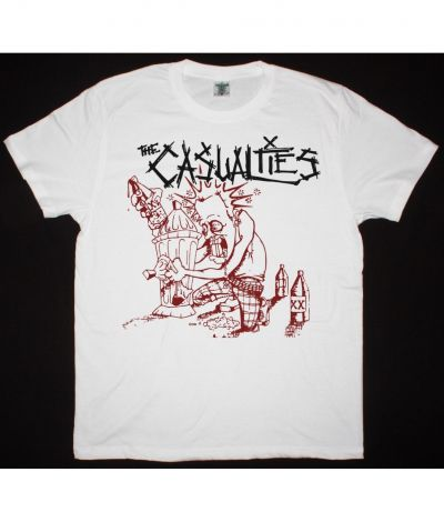 THE CASUALTIES 40 OZ OF CASUALTY NEW WHITE T SHIRT