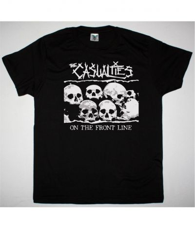 THE CASUALTIES ON THE FRONT LINE NEW BLACK T SHIRT