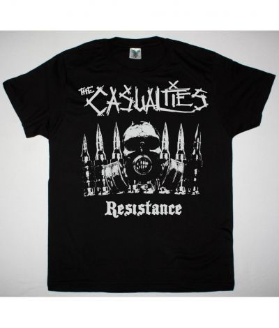 THE CASUALTIES RESISTANCE NEW BLACK T SHIRT