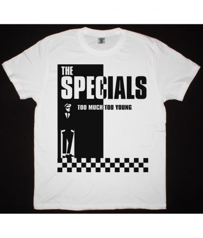THE SPECIALS TOO MUCH TOO YOUNG NEW WHITE T SHIRT