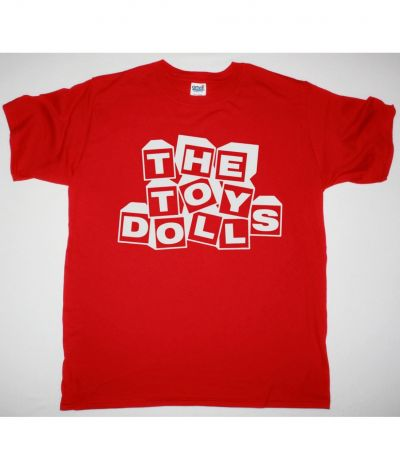 THE TOY DOLLS LOGO NEW RED T SHIRT