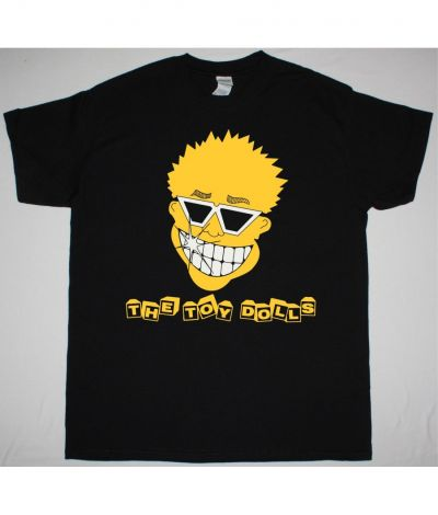 THE TOY DOLLS SMILEY FACE NEW BLACK T SHIRT