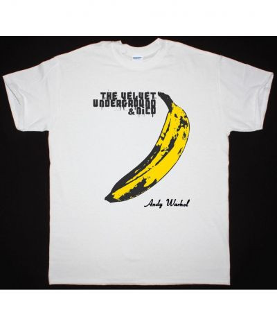 THE VELVET UNDERGROUND BANANA NEW WHITE T SHIRT