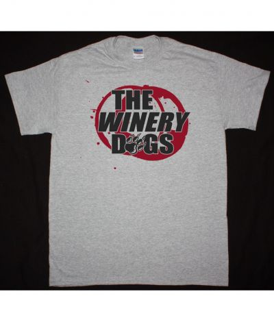 THE WINERY DOGS LOGO NEW SPORTS GREY T SHIRT