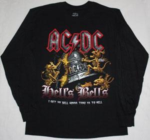 AC DC HELL'S BELLS AC/DC LONG SLEEVE T-SHIRT