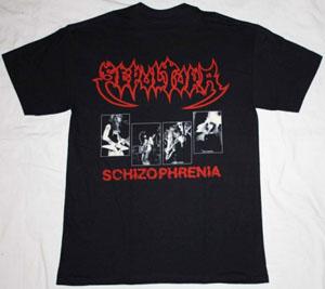 SEPULTURA SCHIZOPHRENIA NEW RARE BLACK T-SHIRT