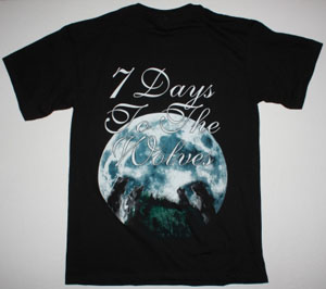 NIGHTWISH SEVEN DAYS TO THE WOLVES NEW BLACK T-SHIRT
