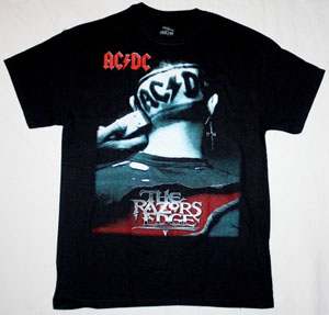 AC DC THE RAZORS EDGE AC/DC NEW BLACK T-SHIRT