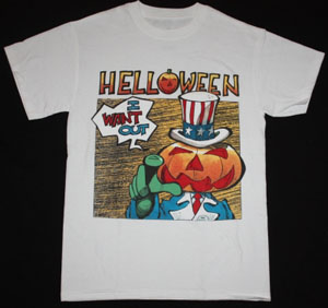 HELLOWEEN I WANT OUT  NEW WHITE T-SHIRT