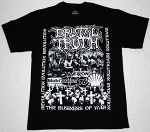 BRUTAL TRUTH EVOLUTION THROUGH REVOLUTION NEW BLACK T-SHIRT