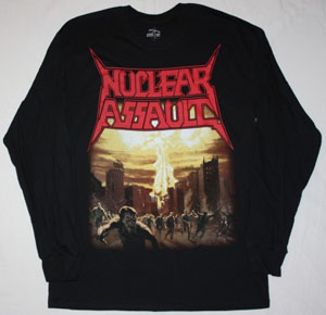 NUCLEAR ASSAULT GAME OVER'86 BLACK LONG SLEEVE T-SHIRT