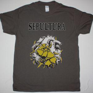 SEPULTURA CHAOS A.D. TOUR NEW GREY T SHIRT