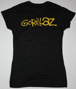 GORILLAZ BAND NEW BLACK LADY T-SHIRT