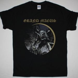 GRAND MAGUS WOLF GOD NEW BLACK T-SHIRT