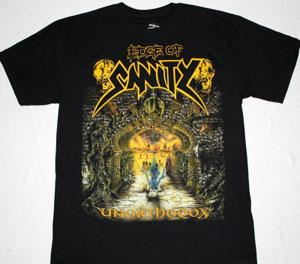 EDGE OF SANITY UNORTHODOX'92 NEW BLACK T-SHIRT