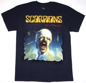 SCORPIONS BLACKOUT'82  NEW BLACK T-SHIRT