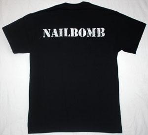 NAILBOMB POINT BLANK'94 NEW BLACK T-SHIRT