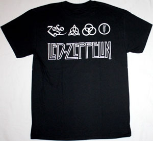 LED ZEPPELIN SWAN SONG NEW BLACK T-SHIRT