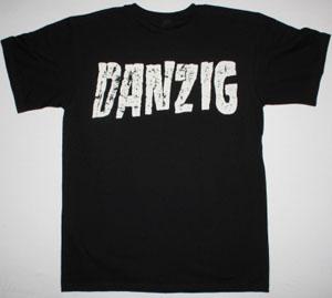 DANZIG SKULL LOGO NEW BLACK T-SHIRT
