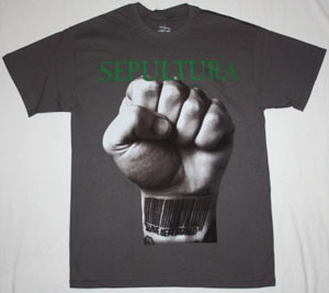 SEPULTURA SLAVE NEW WORLD'93 NEW GREY T-SHIRT