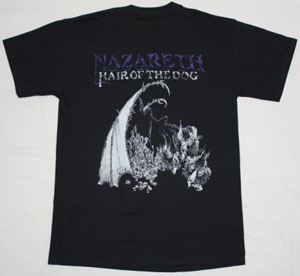 NAZARETH HAIR OF THE DOG '75 NEW BLACK T-SHIRT