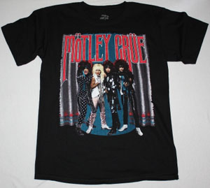 MOTLEY CRUE THEATRE OF PAIN TOUR NEW BLACK T-SHIRT