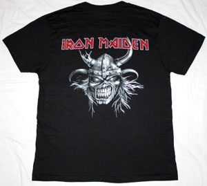 IRON MAIDEN SCANDINAVIAN ASSAULT NEW BLACK T-SHIRT