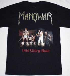 MANOWAR INTO GLORY RIDE'83 NEW BLACK T-SHIRT