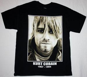 KURT COBAIN 1967-1994 NEW BLACK T-SHIRT