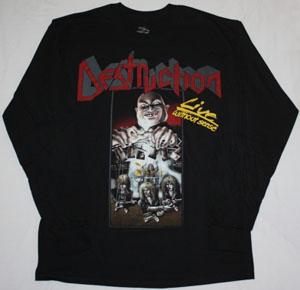 DESTRUCTION LIVE WITHOUT SENSE'89  BLACK LONG SLEEVE T-SHIRT