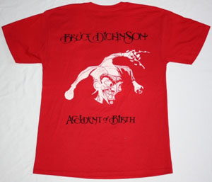 BRUCE DICKINSON  ACCIDENT AT BIRTH'97 NEW RED T-SHIRT