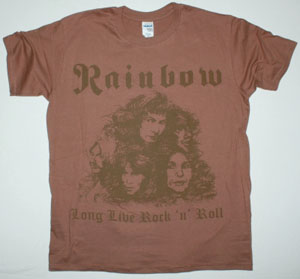 RAINBOW LONG LIVE ROCK'N'ROLL'78 NEW BROWN T-SHIRT