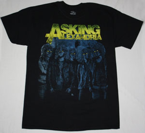 ASKING ALEXANDRIA CAN'T HELP  NEW BLACK T-SHIRT