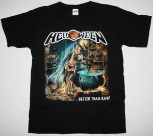 HELLOWEEN BETTER THAN RAW'97 NEW BLACK T-SHIRT