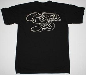 YES FRAGILE '71 NEW BLACK T-SHIRT
