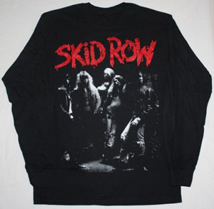 SKID ROW BAND NEW BLACK LONG SLEEVE T-SHIRT