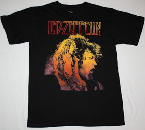 LED ZEPPELIN ROBERT PLANT NEW BLACK T-SHIRT