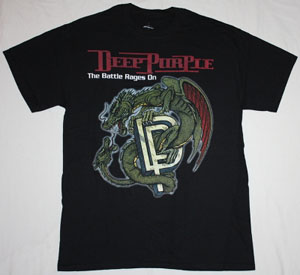DEEP PURPLE THE BATTLE RAGES ON NEW BLACK T-SHIRT