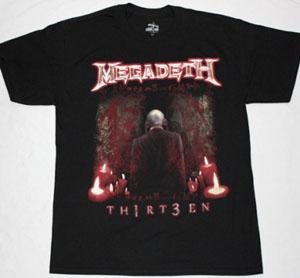 MEGADETH THIRTEEN 2011 NEW BLACK T-SHIRT