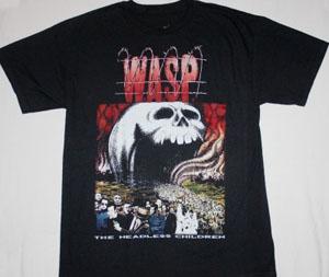 W.A.S.P. THE HEADLESS CHILDREN'89   NEW BLACK T-SHIRT