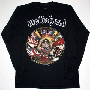 MOTORHEAD 1916  S-XXL NEW BLACK LONG SLEEVE T-SHIRT