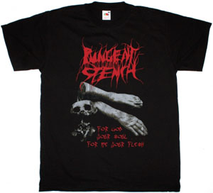 PUNGENT STENCH FOR GOD YOUR SOUL FOR ME YOUR FLESH NEW  BLACK T-SHIRT